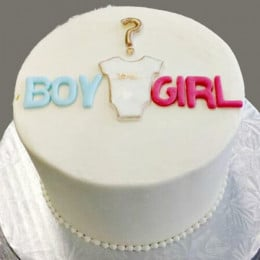 Gender Reveal Baby Shower Cake Onzie - 500 GMS