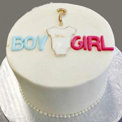 Gender Reveal Baby Shower Cake Onzie - 500 GMS
