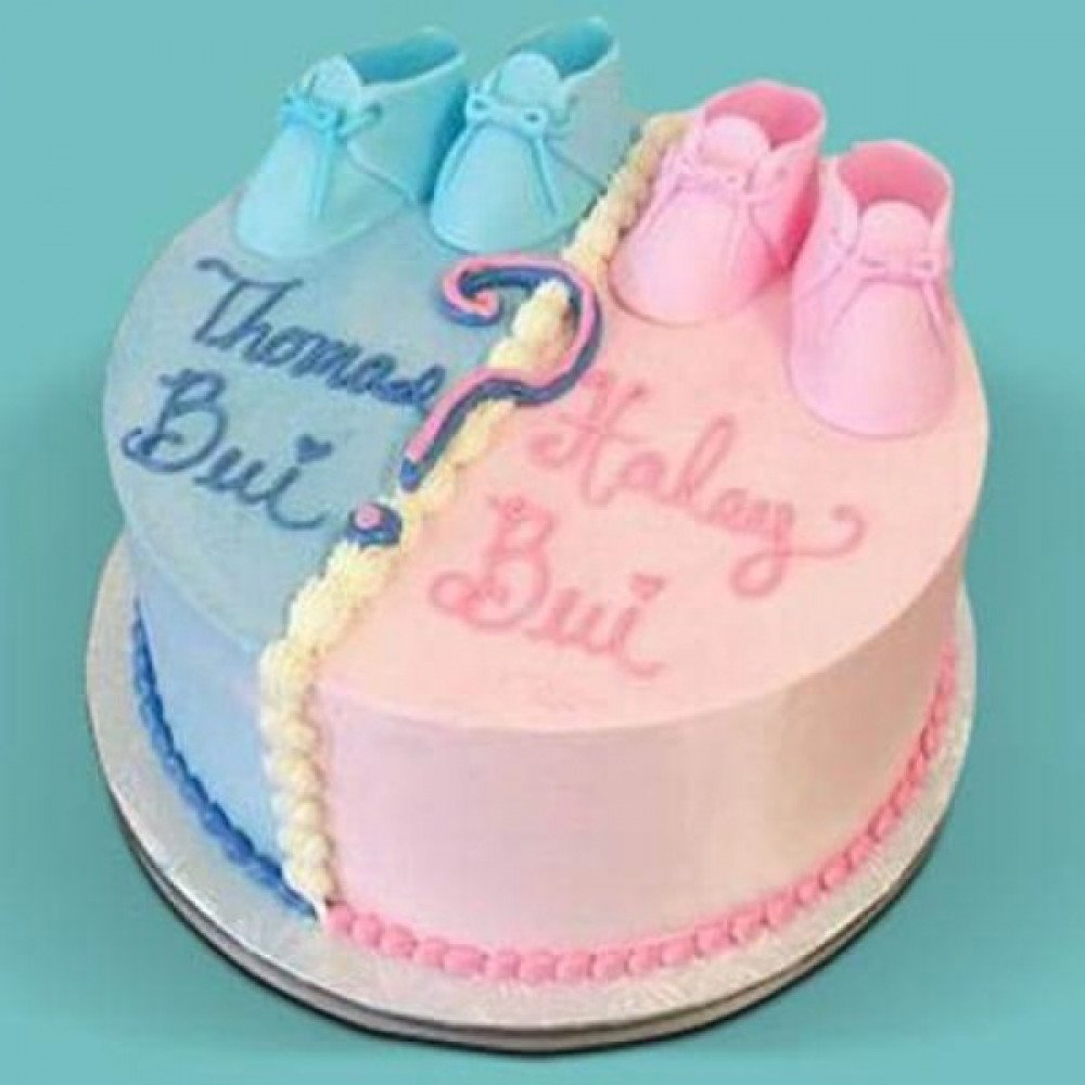 Gender Reveal Baby Shower Cake , 1.5 kg