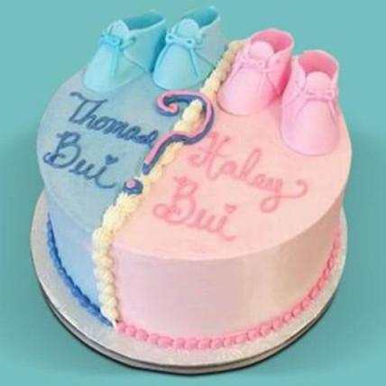 Gender Reveal Baby Shower Cake - 1 KG