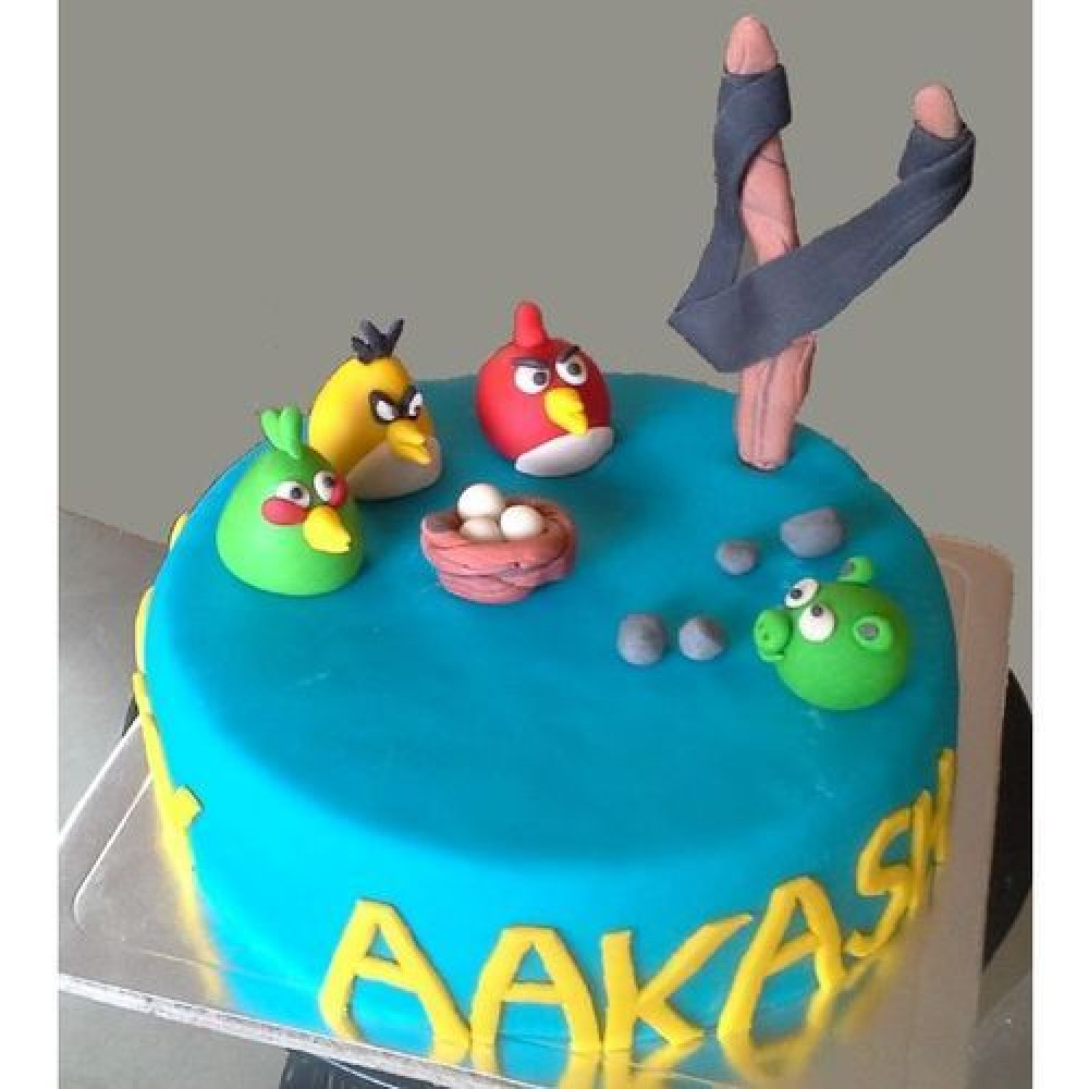 Fine Blue Angry Birds 1 5 Kg Delicious Blue Angry Bird Cake Is A Ideal Funny Birthday Cards Online Sheoxdamsfinfo