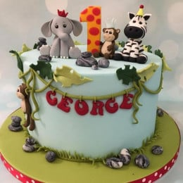Zoo Animal Cake-1.5 kg