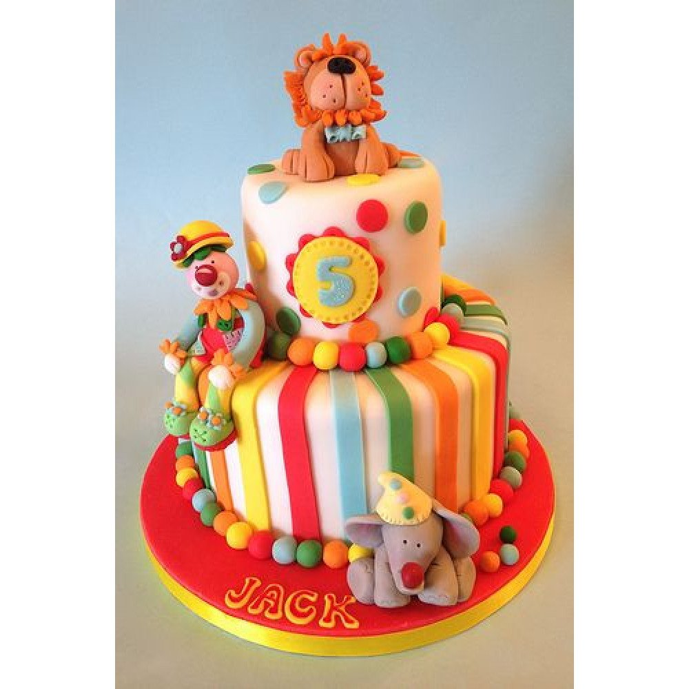 Terrific Kids Carnival Cake 3 Kg Perfect Carnival Celebration Cake For The Personalised Birthday Cards Paralily Jamesorg