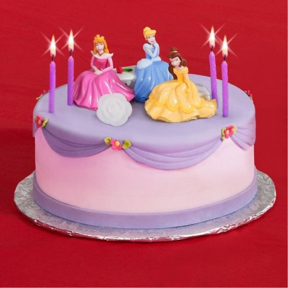 Astounding Cindrell Belle Sleeping Beauty Cake 1 Kg This Small Cake With Personalised Birthday Cards Paralily Jamesorg