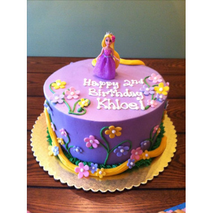 Rapunzel With Flowers Cake-1.5 Kg