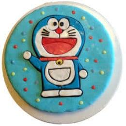 Doraemon Fondant Cake- 500 gm