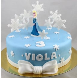 Elsa Snowflakes Cake -1 Kg