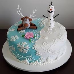 Olaf & Sven Cake-1 Kg