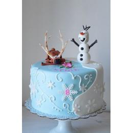 Sleeping Sven & Olaf Cake-1 Kg