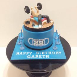 Fondant Gym Cake-1.5 Kg