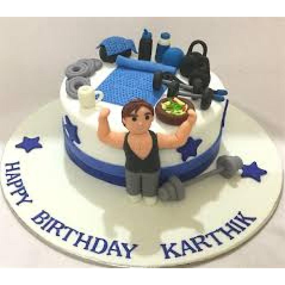 Admirable Boyfriend Gym Birthday Cake 3 Kg Gym Birthday Cakes For Your Gym Funny Birthday Cards Online Elaedamsfinfo