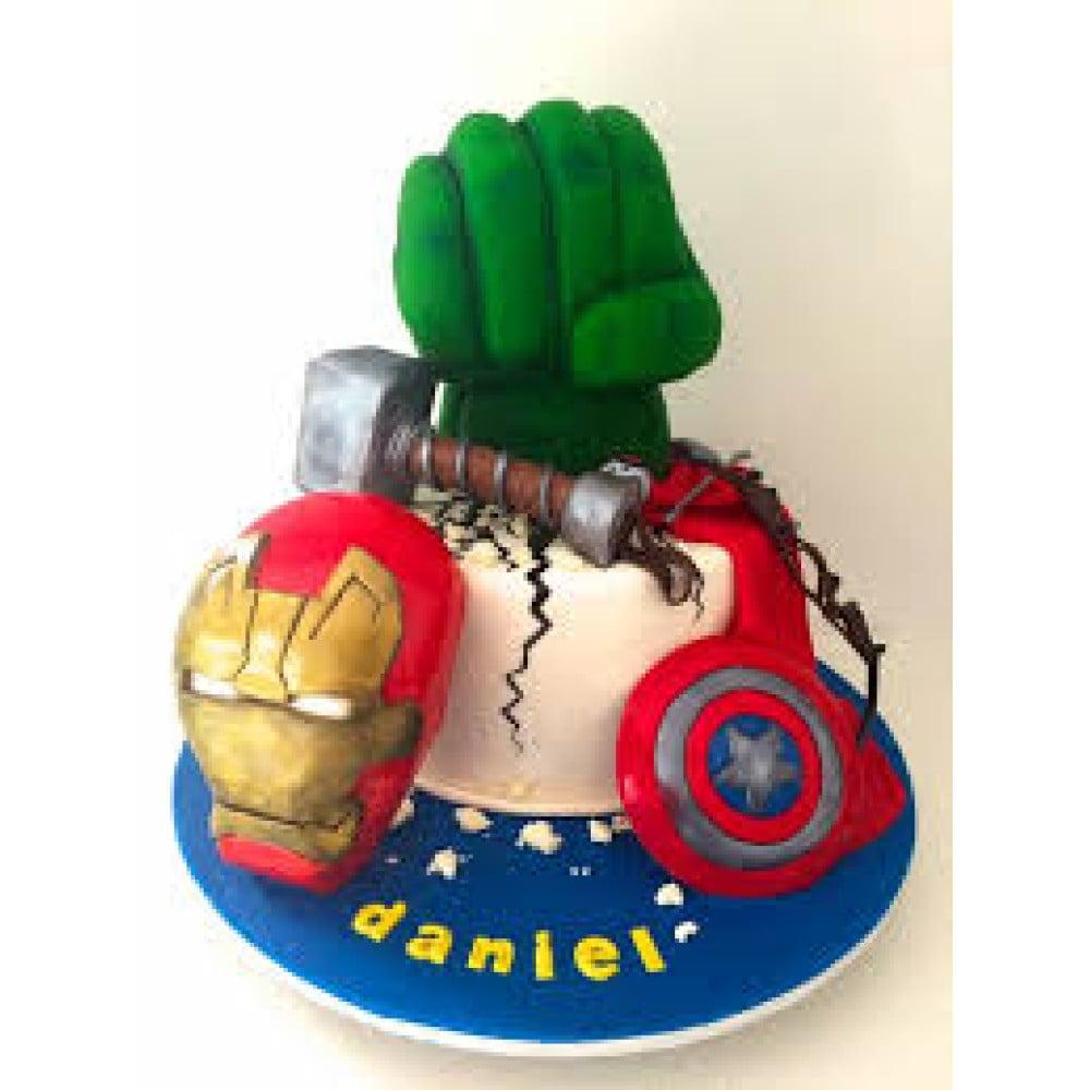 Enjoyable Avengers Birthday Cake 4 Kg New Age Marvel Series Avenger Cake Funny Birthday Cards Online Alyptdamsfinfo