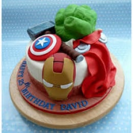 Superhero Cake-1.5 Kg