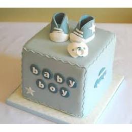 Baby Boy Shoe Cake-1.5 Kg