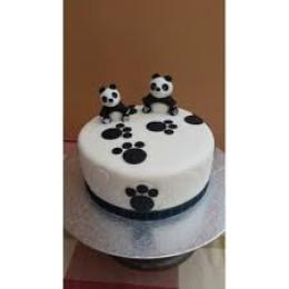 Panda Footprints Cake-1.5 Kg