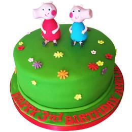George & Peppa Pig Cake-1 Kg