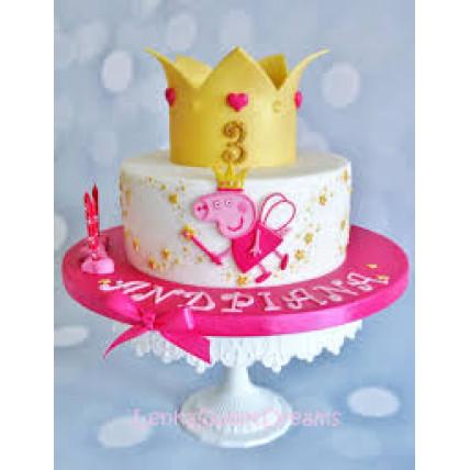 Peppa Crown Cake-1.5 Kg