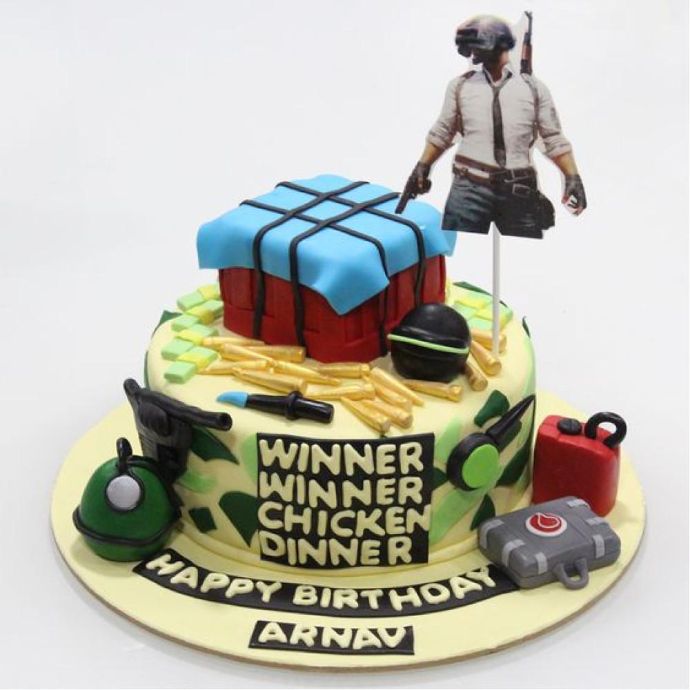 Fabulous Winner Winner Chicken Dinner Pubg Cake 2 Kg Winner Winner Chicken Funny Birthday Cards Online Bapapcheapnameinfo