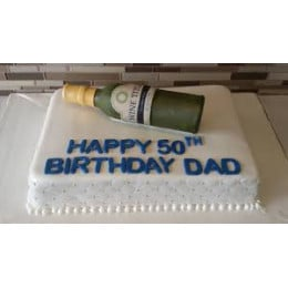 Wine Birthday Cake-1.5 Kg