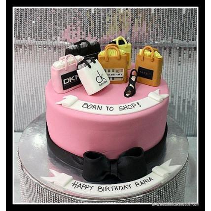 Born To Shop Cake-1.5 Kg