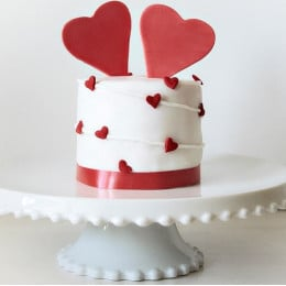 Heart Shower Cake-500 Gms