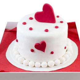 Twinning Hearts Cake-500 Gms
