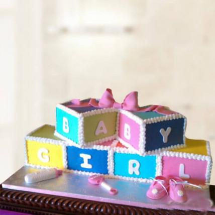 Baby Girl Fondant Cake - 1 KG