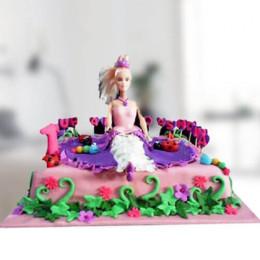 Barbie Floral Garden Cake - 2 KG