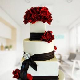Black&White Wedding Cakes - 6 KG