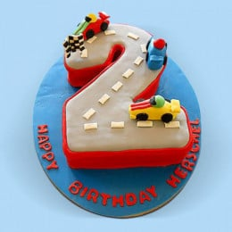 Car Race Birthday Cake - 2 KG