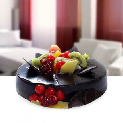 Fruitchocolate Cake - 500 Gm