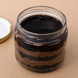 Set Of 2 Yummy Chocolate Jar Cake