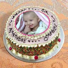 Photo Cake Vanilla Sponge - 1 kg