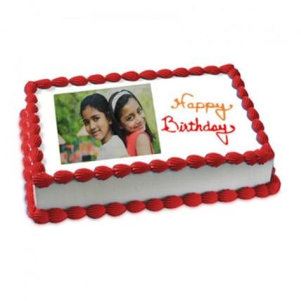 Happy Birthday Photo Cake - 500 Gm