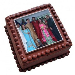 Photo Square Chocolate Cake - 500 Gm