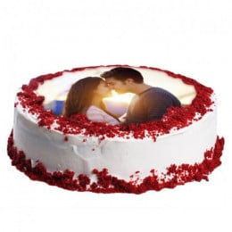 Red Velvet Photo Cake - 500 Gm