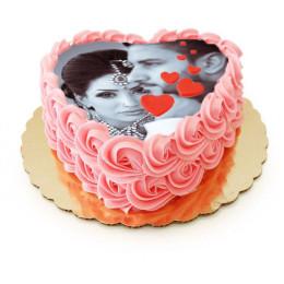 Heart Lock Cake-1 Kg