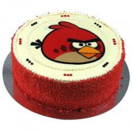Angry Bird Photo Cake- 500 gm