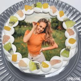 Fruitolicious Photo Cake-500 Gms