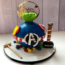 Avengers Pinata Cake