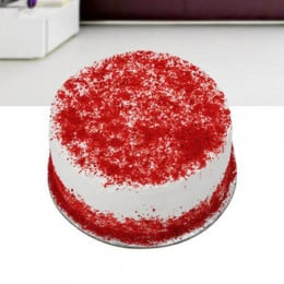 Red Velvet Cream Cake - 500 Gm