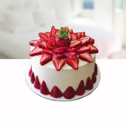 Strawberry Shower Cake - 500 Gm