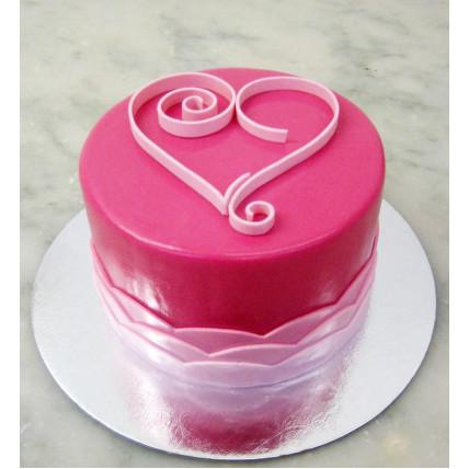 Valentine Heart Cake-500 Gms