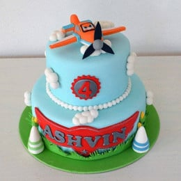Aeronautic Two Tier Cake - 4 KG
