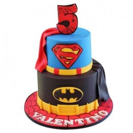 Batman N Superman Cake - 4 KG
