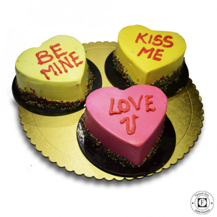 Be My Valentine Cake-Set of 3