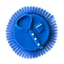 Blue Tshirt Cupcakes-set of 6