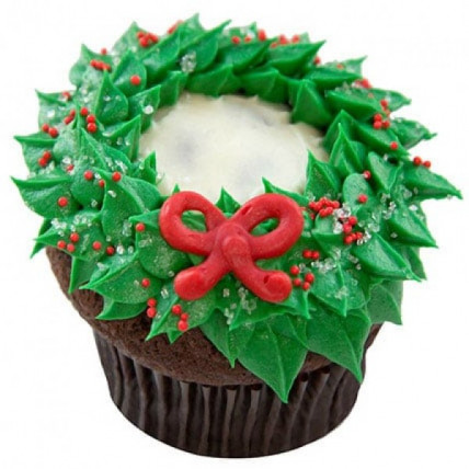 Choco Cream Christmas Cupcake-set of 6