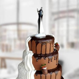 Chocolate Cream Wedding Cake - 6 KG
