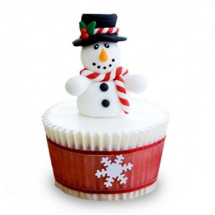 Christmas Snowman Cupcakes-set of 6